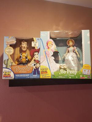 Toy Story Signature collection Woody & Bo Peep for Sale in Los Angeles, CA