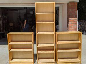 Full Wooden Bookshelf Set of 3 for Sale in Hacienda Heights, CA