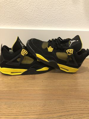 Nike Air Jordan Retro 4 Thunder 2012 Black Yellow Size 10 for Sale in Dallas, TX