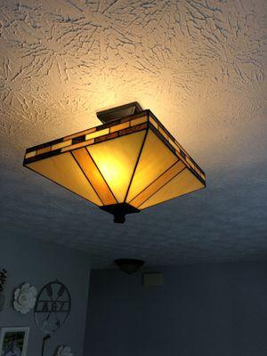 Neutral semi flush mount Tiffany light for Sale in Sunbury, OH