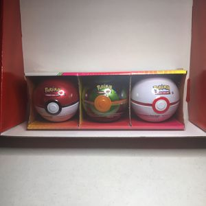 POKEMON SET OF 3 BALL PACK TCG BOOSTER PACKS AND COIN for Sale in Lehigh Acres, FL