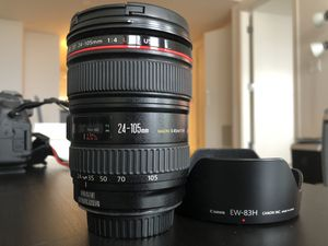 Canon EF 24-105mm f/4 L IS USM Lens for Canon EOS SLR Cameras - for Sale in Seattle, WA