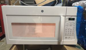 New GE 1.6 Cu ft Over the Range Microwave in White for Sale in Etiwanda, CA
