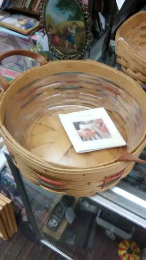 Longaberger Basket with plastic liner for Sale in Riverside, CA