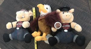 Harley Davidson Plush Toy $5 Each or All for $12 for Sale in Port St. Lucie, FL