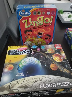 Zingo game and planet puzzle for Sale in Des Plaines, IL