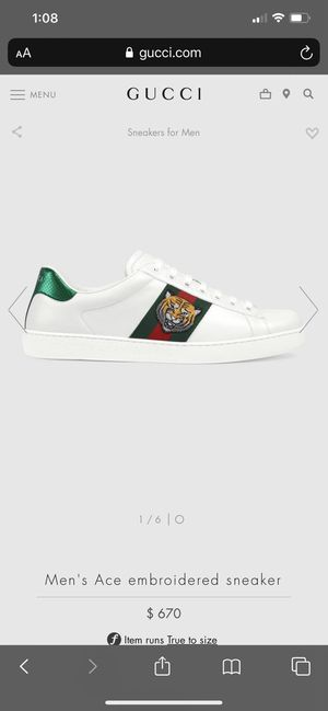 Authentic Gucci sneakers size 8 men size for Sale in Corona, CA