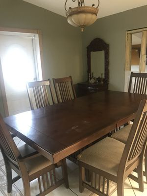 Large dining room table with six chairs for Sale in Miami, FL