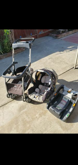 Chicco car seat with KeyFit Caddy Frame Stroller for Sale in San Lorenzo, CA