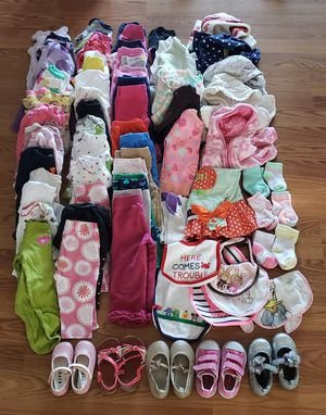 Baby girl clothes size 6-9mos lot of 77 pcs for Sale in Lakewood, CO