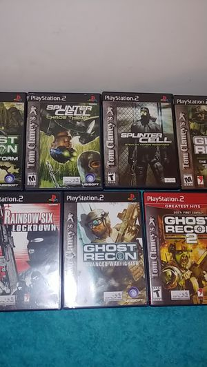 7 tom clancys games for the ps2 for Sale in Marietta, GA