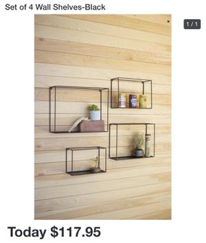 NEW ZYTHER 4PC METAL WALL SHELF SET for Sale in Dallas, TX