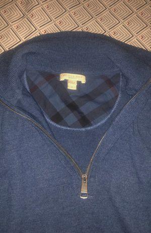 Burberry Blue Half Zip Knit Sweater for Sale in Detroit, MI