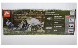 Ozark Trail Camping Set, Tent, Table, Chairs, Sleeping Bags for Sale in Laurel, MD