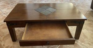 Santa Fe Tapered Leg Coffee Table and side table ( FREE DELIVERY 🚚) EXCELLENT CONDITION SOLID WOOD for Sale in North Las Vegas, NV