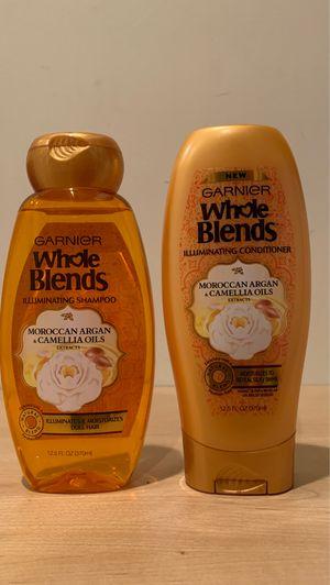 Garnier Whole Blends Moroccan Argan & Camellia Oils Illuminating shampoo & conditioner: both for $4 for Sale in Alexandria, VA
