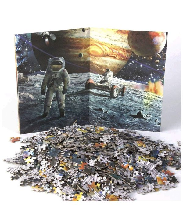 Space Puzzle 1000 Piece, Planets in Space and Astronaut Puzzle Games Suitable for Adults and Children. Activities to Help Children Think About Parent