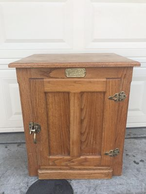 Used, White clad iced box oak ANTIQUE for Sale for sale  Lathrop, CA