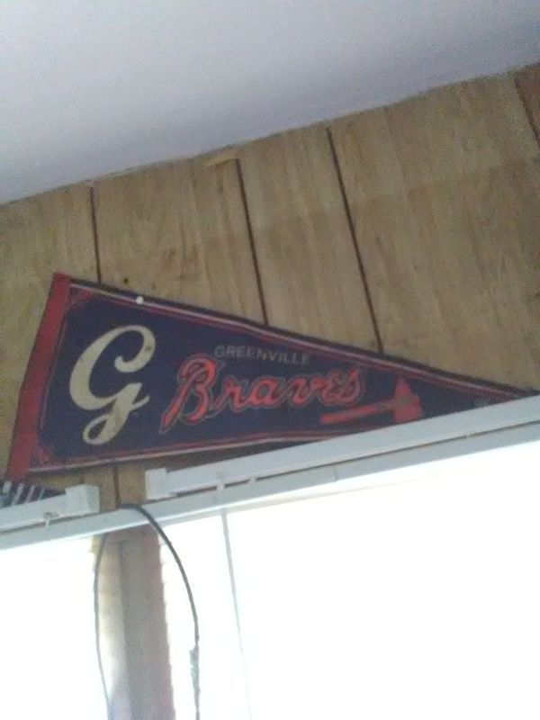 Vintage Greenville braves flag