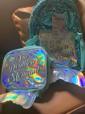 Girls Backpack and lunch bag with color changing sequins for Sale in Houston, TX