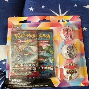 TaPu Pins Evolutions Booster Pack Crimson Invasion Factory Sealed for Sale in Houston, TX