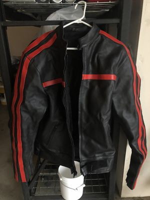 Mens Leather Motorcycle Jacket Coat with padding for riding M Medium for Sale in Vancouver, WA