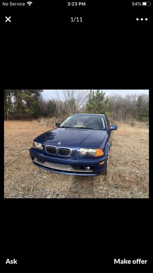 2002 BMW 325 CI manual transmission 2.5l engine V6 rear-wheel drive run and drives good for Sale in Spartanburg, SC