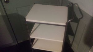Bar / Office/ Utility Cart w/ Wheels _3 Removable Metal Shelves Used_ Moving Must Sell for Sale in Galena Park, TX