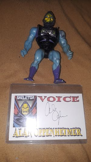 Skeletor MOTU (He-Man) toy collectibles Autograph for Sale in El Paso, TX