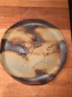 "Handcrafted clay plate 9"" diameter - set of 5 for Sale in IL, US"