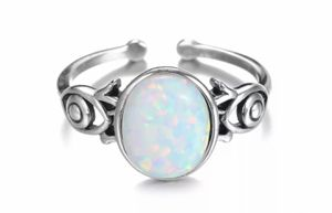 Round Opal 925 Sterling Silver Adjustable Ring for Sale in Wichita, KS
