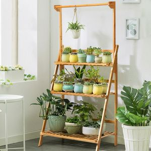 3 Tier Folding Bamboo Plant Holder for Sale in Los Angeles, CA