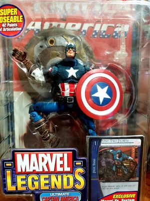 Captain American, Marvel Legends, Toybiz series 8 for Sale in Jacksonville, FL