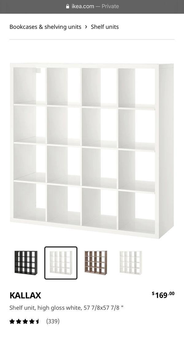 White Shelf Storage Unit With Drawers (IKEA KALLAX)