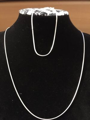Silver 925MEX Necklace & Bracelet set 🎁 (Authentic 100%) for Sale in Westminster, CA