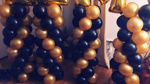 Graduation gold and black balloons for Sale in Dearborn, MI