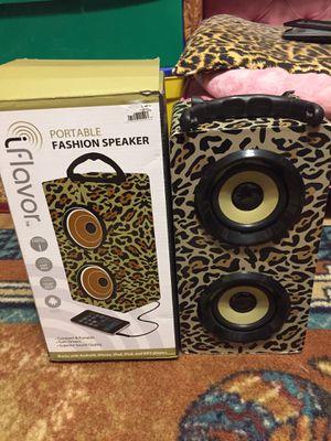 Speaker portable fashion leopard print for Sale in Coral Springs, FL
