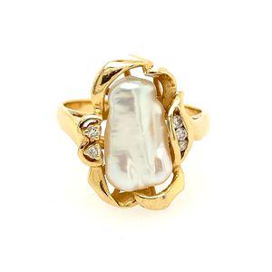 14k Pearl and diamond ring for Sale in Alexandria, VA