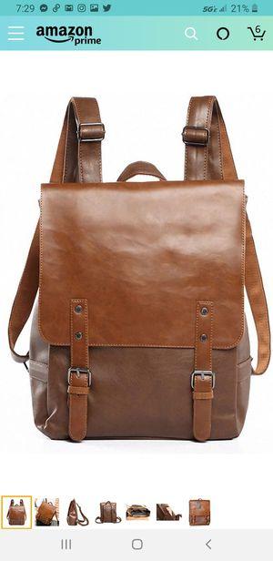 New Kenox Vintage PU Leather Laptop Backpack Knapsack Rucksack Weekender Daypack Bag for Sale in Las Vegas, NV