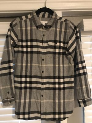 Burberry Boys Grey Check Button-Down Shirt Sz XL Boys for Sale in Atlanta, GA