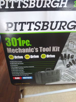 Tool set brand new never been open 301 pieces and brand new jump box with power inverters air compressor two power plugs for Sale in Detroit, MI
