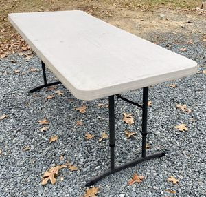 6F Rectangle Made In USA Utility Workshop Folding Table for Sale in Chapel Hill, NC