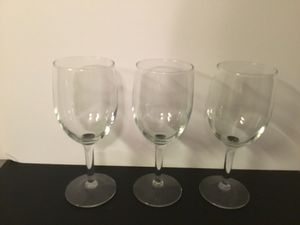 Three matching wine glasses for Sale in Pittsburgh, PA