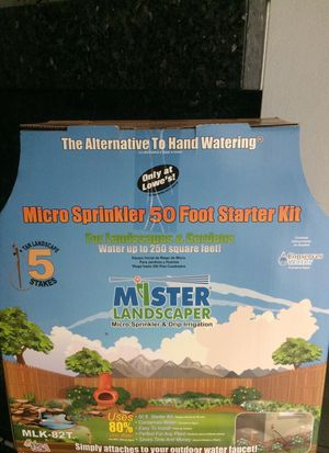 Micro sprinkler 50 feet starter kit. Electronic water timer with easy dial. for Sale in Palm Beach Gardens, FL