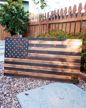 Burnt Wood American Flag for Sale in Chino, CA