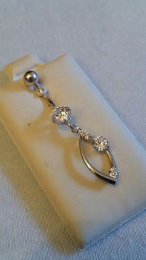 14k White Gold belly bar for Sale in Leavenworth, WA