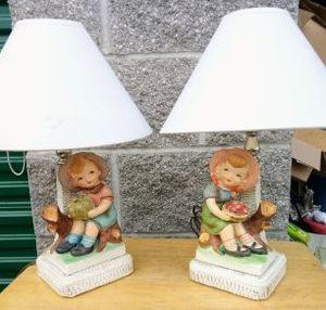 Vintage 1961 signed silvestri bros lamp pair for Sale in Medford, OR