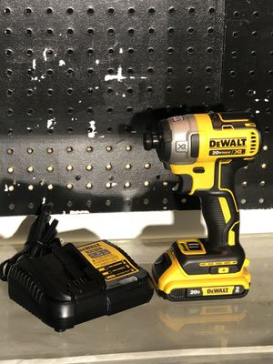 DEWALT 20-Volt MAX XR Lithium-Ion Cordless Brushless 3-Speed 1/4 in. Impact Driver ( 1 Battery 2.0 and charger included ) for Sale in Fontana, CA