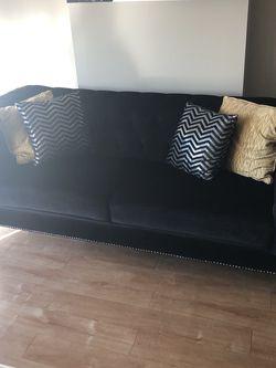 Velvet Black Sofa for Sale in Phoenix,  AZ
