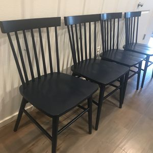 NEW DINNING CHAIRS 4 piece in navy color ! ( open box and assembled already) Original Price 360 $ I Am Asking 280$ for Sale in Vancouver, WA